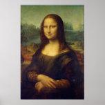Tamaño real de la impresión de la pintura de Mona  Póster