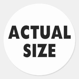 Tamaño real etiquetas redondas