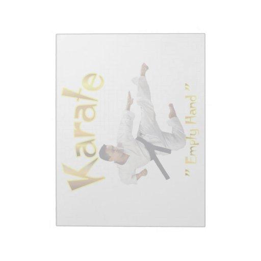 Tamaños de la libreta del karate (2) blocs de notas
