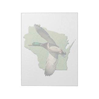 Tamaños de la libreta del pato de Wisconsin (2) Bloc De Notas