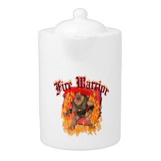 Tamaños de la tetera del guerrero del fuego del gu