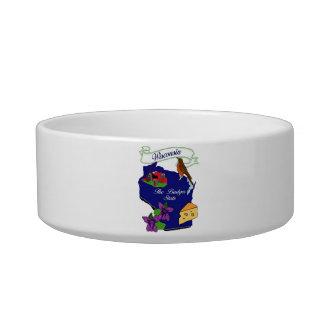 Tamaños del cuenco del mascota del estado de Wisco Tazon Para Gato