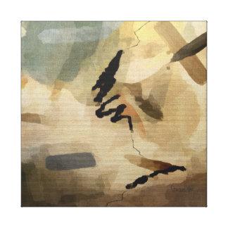 """Tamaños opcionales abstractos del """"barranco"""" del lienzo envuelto para galerías"""