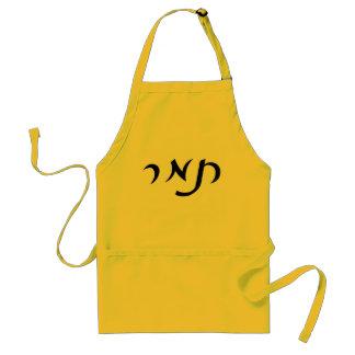 Tamar en letras hebreas de la escritura delantal