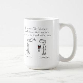 Tamara and Caroline Classic White Coffee Mug