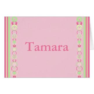 Tamara Pink Modern Circles Card