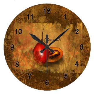 Tamarillo botánico relojes de pared