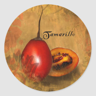 Tamarillo Classic Round Sticker