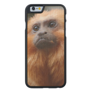 Tamarin Monkey Carved® Maple iPhone 6 Slim Case