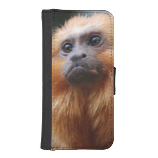 Tamarin Monkey iPhone 5 Wallet Cases
