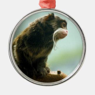 Tamarin Monkey Metal Ornament