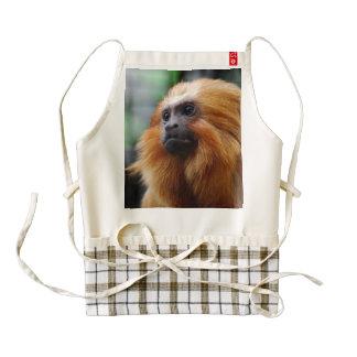Tamarin Monkey Zazzle HEART Apron