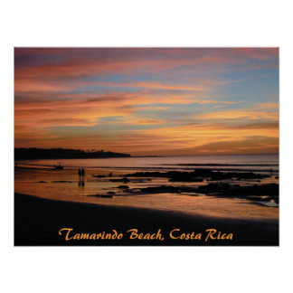 Tamarindo Beach Sunset, Costa Rica Print