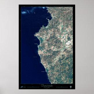 Tamarindo, Costa Rica satellite poster