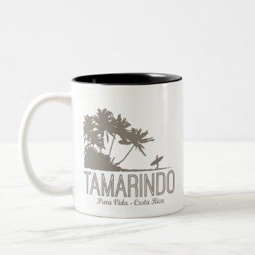 Coffee Themed Tamarindo Costa Rica Surfers Beach Two-Tone Coffee Mug