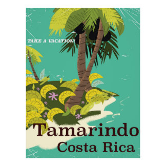 Tamarindo Costa Rica travel poster