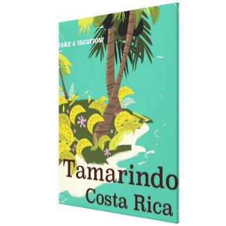 Tamarindo Costa Rica travel poster Canvas Print