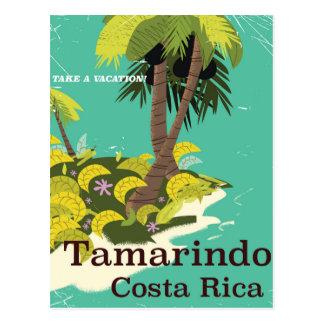 Tamarindo Costa Rica travel poster Postcard