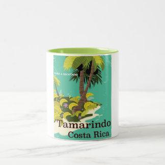 Tamarindo Costa Rica travel poster Two-Tone Coffee Mug
