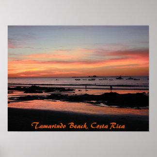 Tamarindo Sunset Boats, Tamarindo Beach, Costa ... Poster