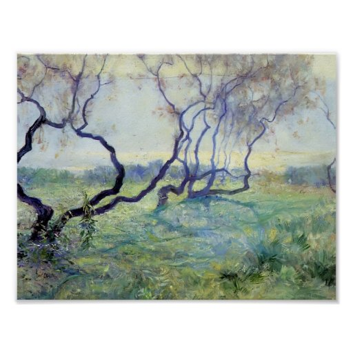 Tamarisk Trees in Early Sunlight by Guy Rose Poster