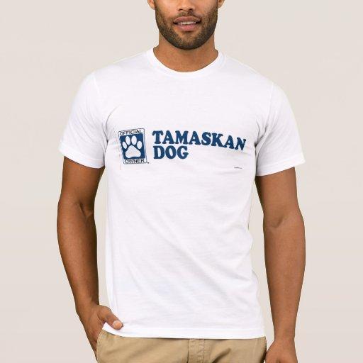 TAMASKAN DOG_blue Playera
