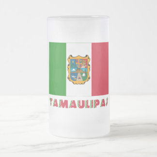 Tamaulipas Unofficial Flag Frosted Glass Beer Mug