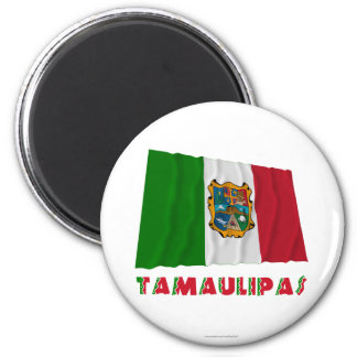 Tamaulipas Waving Unofficial Flag 2 Inch Round Magnet