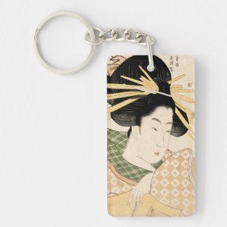 Tamaya uchi shizuka Double-Sided rectangular acrylic keychain