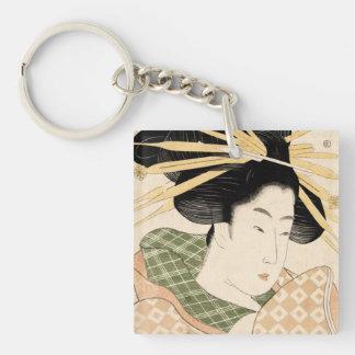 Tamaya uchi shizuka Single-Sided square acrylic keychain