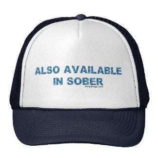 También disponible en sobrio gorras