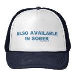 También disponible en sobrio gorros