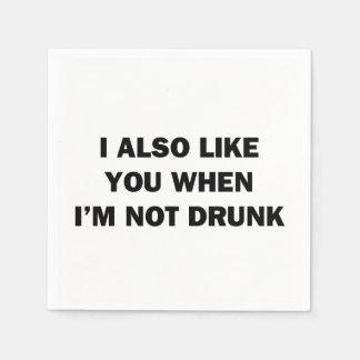 También tengo gusto de usted cuando me no beben servilleta desechable
