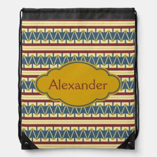 Tambor americana del vintage personalizado mochilas