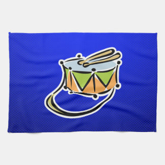 Tambor azul toallas de mano