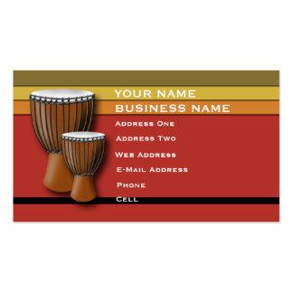 Tambor de Djembe del africano - tarjeta de la indu Tarjetas De Visita