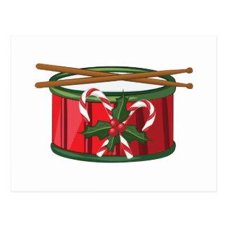 Tambor de Navidad Postales
