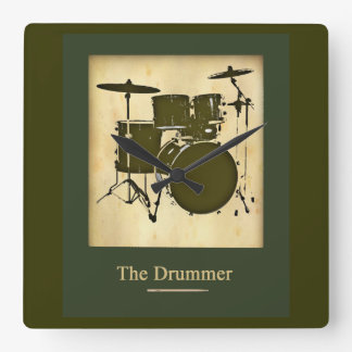 tambor/decoración del tiempo de los tambores reloj cuadrado