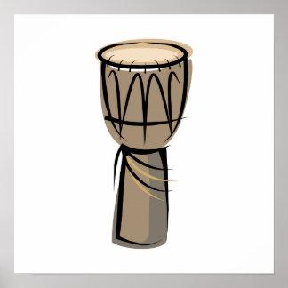 tambor del djembe impresiones