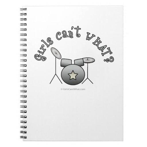 Tambor fijado - plata cuadernos