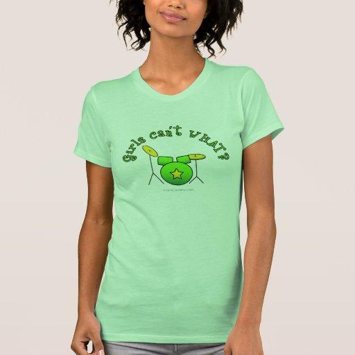 Tambor fijado - verde camisetas