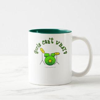 Tambor fijado - verde tazas