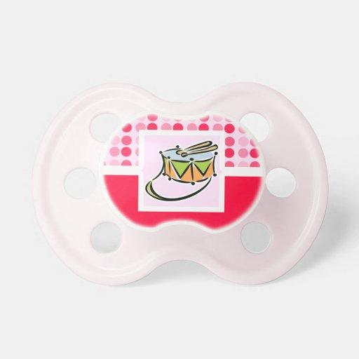 Tambor lindo chupetes de bebe