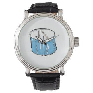 tambor look.png handdrawn azul reloj de mano