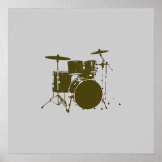 tambor para las paredes, impresión musical póster