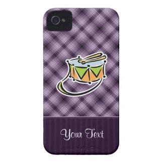 Tambor púrpura Case-Mate iPhone 4 fundas
