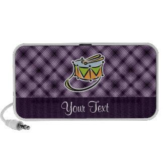 Tambor púrpura notebook altavoz