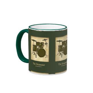 tambor/tambores taza de dos colores