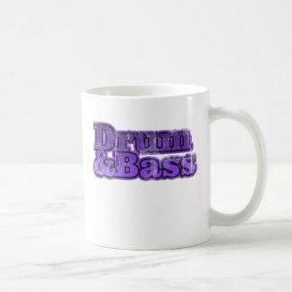 Tambor y púrpura baja taza de café
