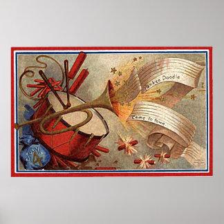 tambor y trompeta del doodle del yanqui impresiones